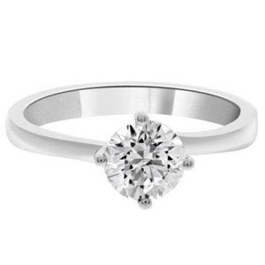 Prong set Solitaire round cut diamond ENGAGEMENT R